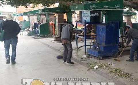 """Limpiaron área de los """"boleros"""""""