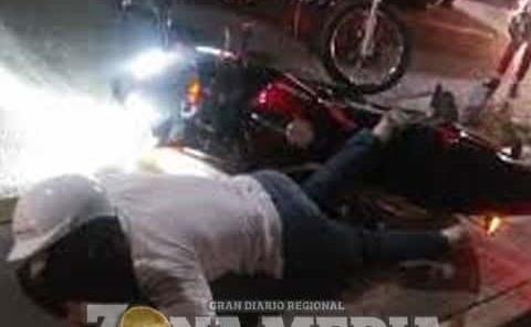 Motociclista ebrio sufrió accidente