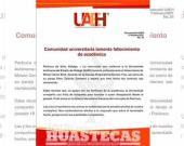 UAEH borra comunicado