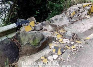 Peligro por la caída de rocas