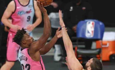 Sorprende Miami Heat a los Lakers
