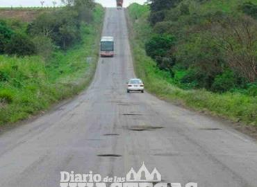 Maleza abunda en  tramos carreteros