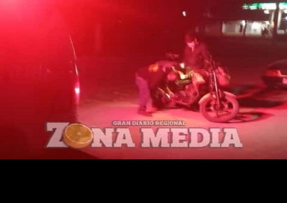 Derrapó un motociclista