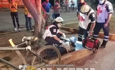 Ancianito herido tras brutal caída