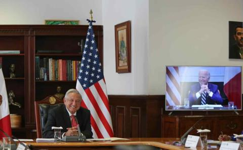 AMLO sostuvo su 1ra. reunión con Joe Biden
