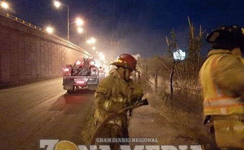 Incendio de pastizales hubo cerca de gasolinera