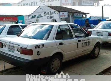 Bajan ingresos de los taxistas