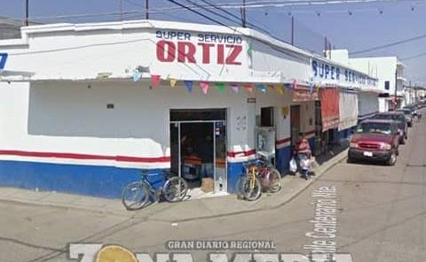 """Atracaron súper """"Ortiz"""" en ejido"""