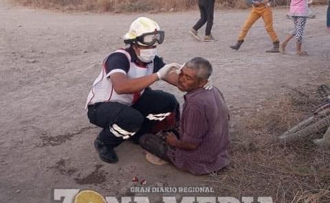 "Campesino herido al caerse de ""bici"""