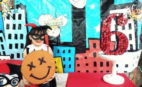 Festejo de Harley Quinn a Dafne Selene Barrios