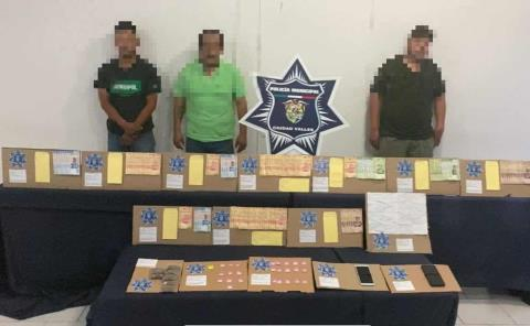 Fueron detenidos presuntos delincuentes