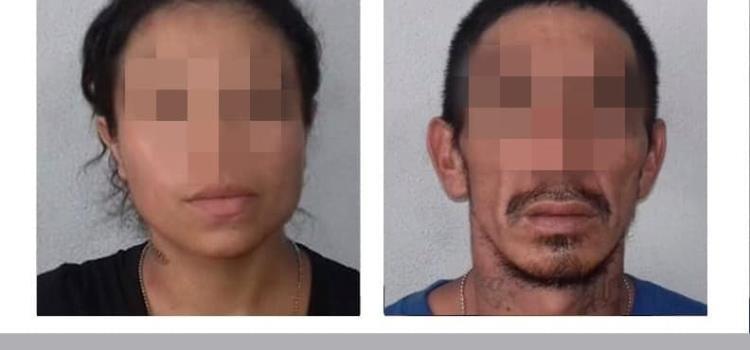Pareja detenida por amenazas y droga