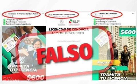 Alertan por páginas falsas de Finanzas