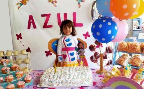 Azul Rodríguez cumplió 4 años