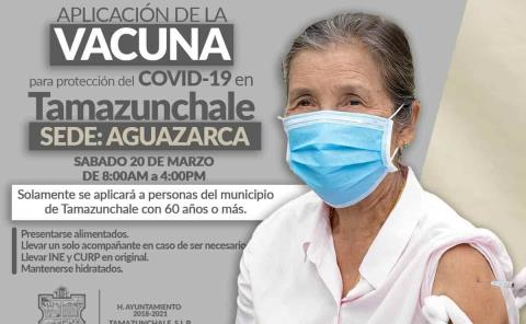 Aguazarca sede de la aplicación de la vacuna contra el covid-19