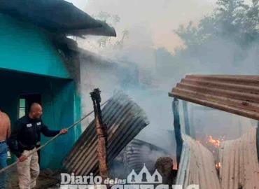 Fuego acabó con vivienda