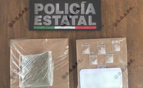 Con droga atrapan a presunto delincuente