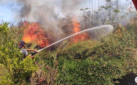 Incendio movilizó a los Bomberos
