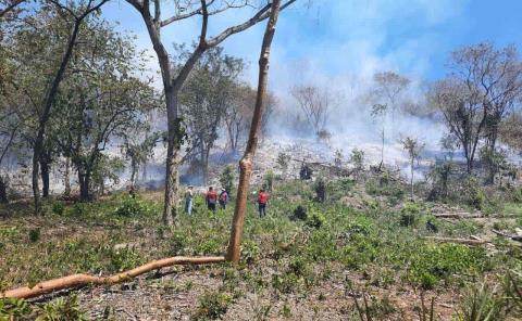 Cuerpos de emergencia sin equipo para incendios