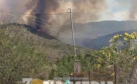 Incendio alcanzaría poblados