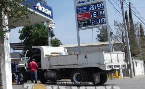 Gasolina llegó a 22 el litro
