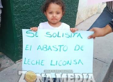 Protestaron por falta de leche en Liconsa