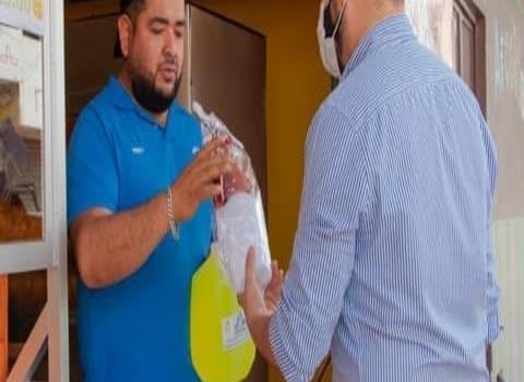 Agradecen por entrega de los kits sanitizantes