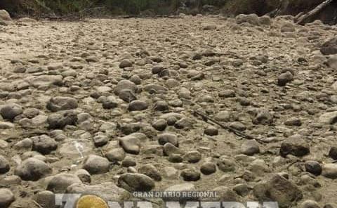 Se secó el río