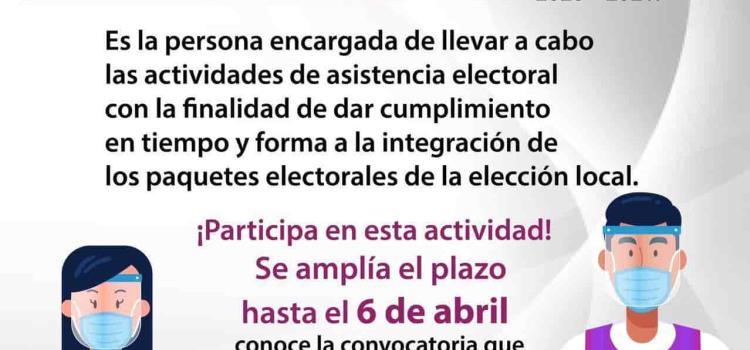 Aún hay vacante de Capacitador Electoral