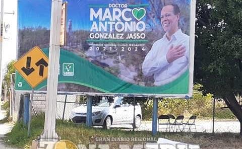 Hay propaganda de candidatos en ejido