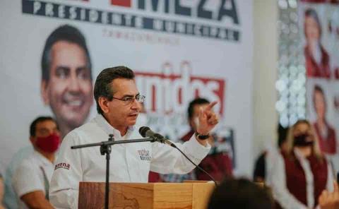Recibe Pepe Meza contundente respaldo