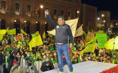 Fuerte respaldo trajo Gallardo a candidatos