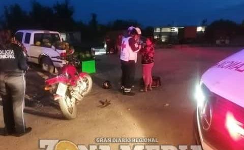 Motociclista atropellada