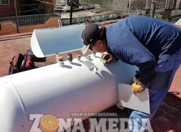 Vital revisar los cilindros de gas