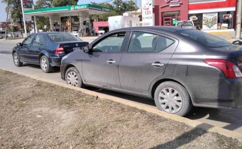 Choque por alcance entre dos vehículos