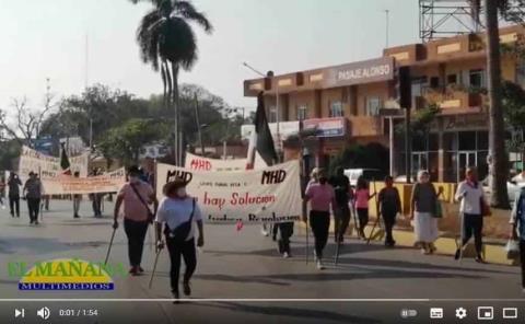 Marcha en memoria de Emiliano Zapata