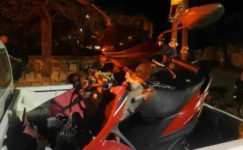 Chocó motociclista
