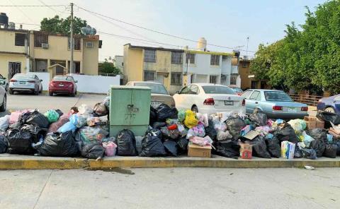 40 toneladas de basura en calles