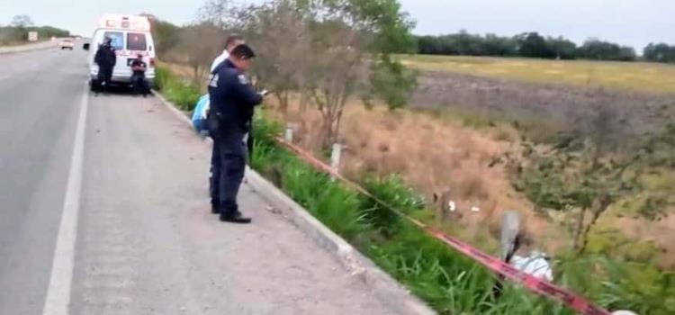 Motociclista derrapó en la Valles-Tampico