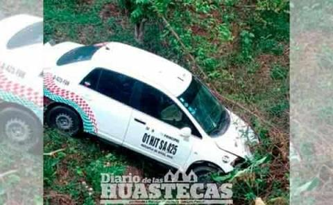 Taxista se salvó de  morir en accidente
