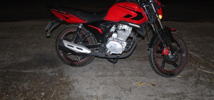 Motociclista derrapó