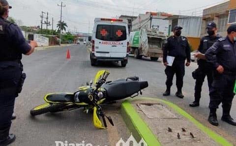 Motorista lesionado