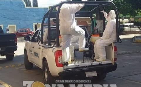 Comerciantes de Rayón agradecen sanitinizacion