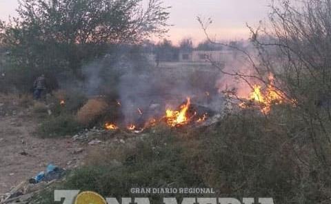 Quemas de basura causaron incendios