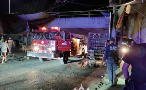 Incendian un camión recolector de basura