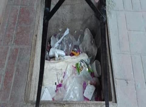 Desagües están llenos de basura