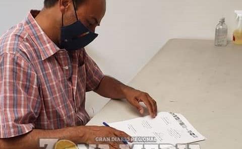 Sergio Gama firmó pacto de civilidad