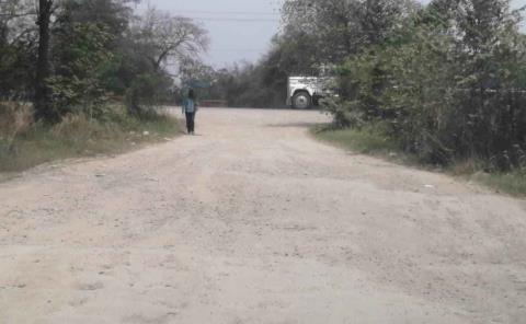 A medias obra en calle Justo Sierra