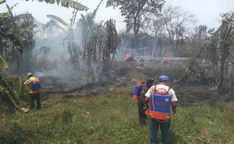 Incendios arrasaron y afectan dos ranchos