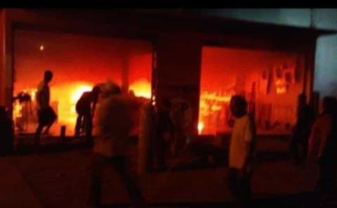 Se incendió una ferretería